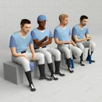 Four models of sitting baseball 