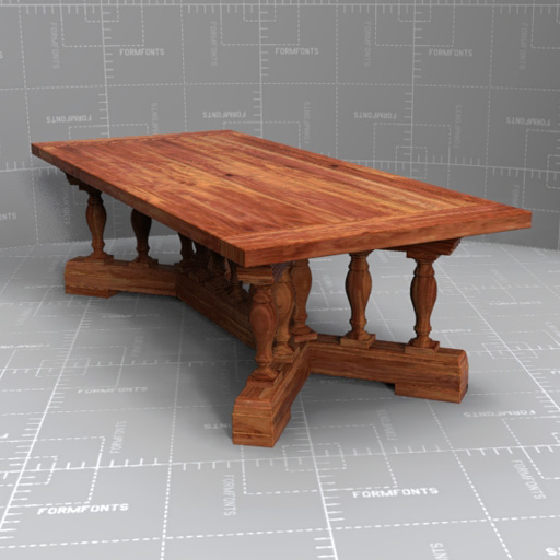 Dining Table Models rh 15 baluster dining table 3d model - formfonts 3d models & textures