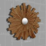 Wooden Starburst Mirror -