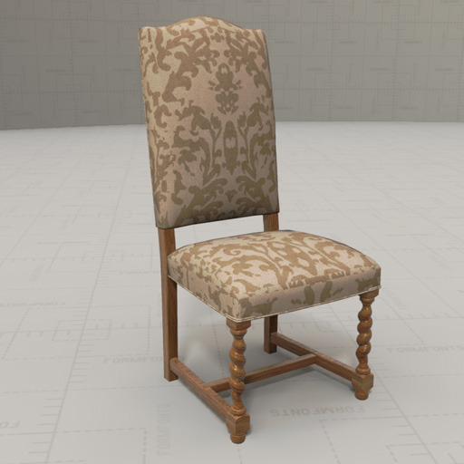French Dining Chair 3d Model Formfonts 3d Models Textures