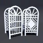 "4 variants of arched trellis, approx 77"" (2m)..."