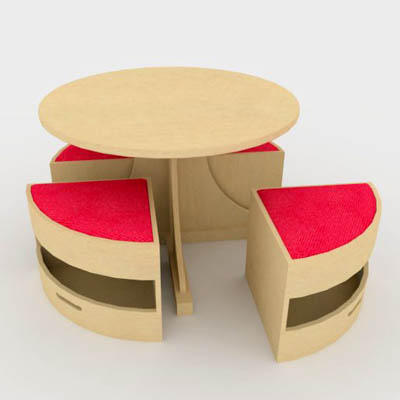 Childrens' circular table and chair set by Sensory....