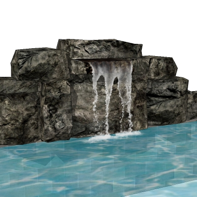 Waterfalls 1 3D Model - FormFonts 3D Models & Textures
