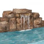 Small modular block waterfall for pool or pond. Di...