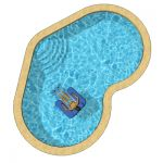 Heart-shaped pools in three sizes...16 x 25, 19 x ...
