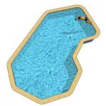 Tech C shaped pools. 16 x 30 and 18 x 35ft. Remova...