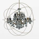 Foucault's Orb Crystal chandelier from Restoration...