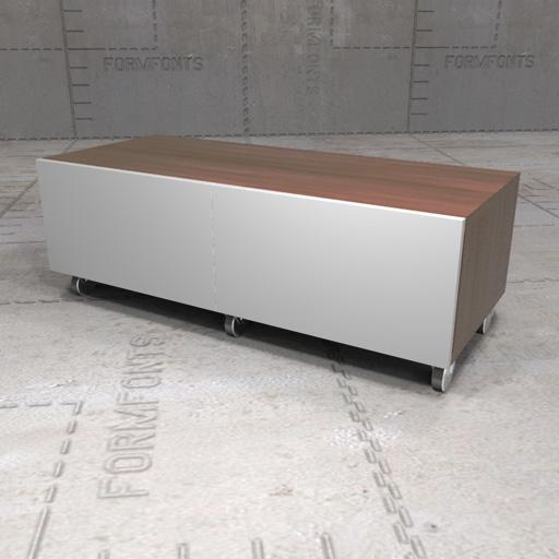 IKEA Besta Bench 3D Model FormFonts 3D Models & Textures