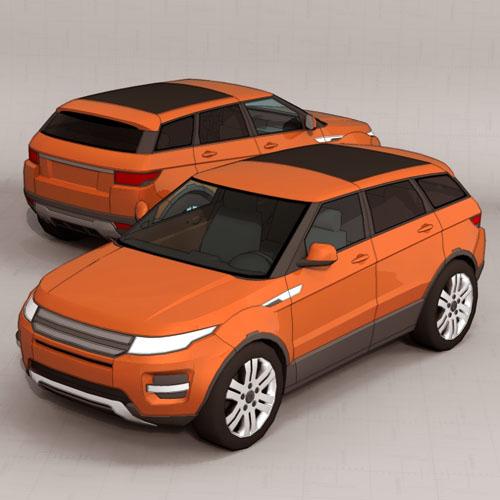 Range Rover Evoque 4 Doors 3D Model