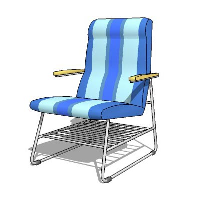 Pvc seat with chrome tube legs for poolside