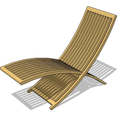 Foldable deck chair.