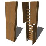 CD-shelve with doors, mdf, 50cm
