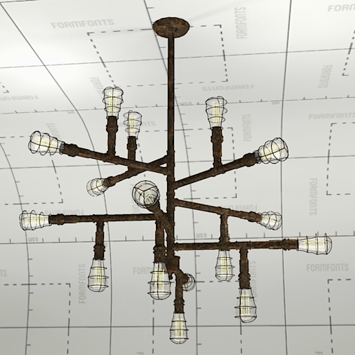 Troy Lightning Conduit Chandelier.