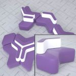 The Cross modular seating system by Diemme. A flex...