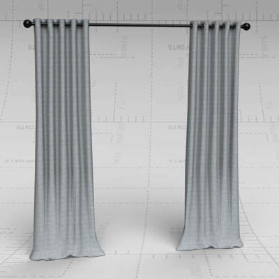 Emery linen drapes with grommet. Available from Po....