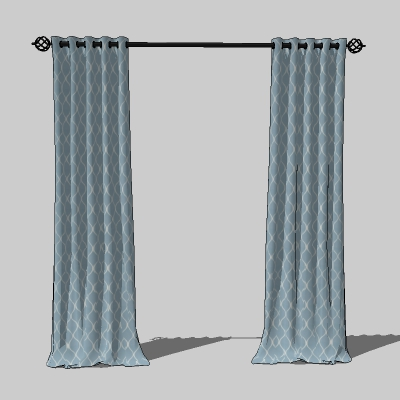 Generic, adjustable drapes, currently set to a 90&....