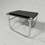 Leather Footstool<br>Revit Render 