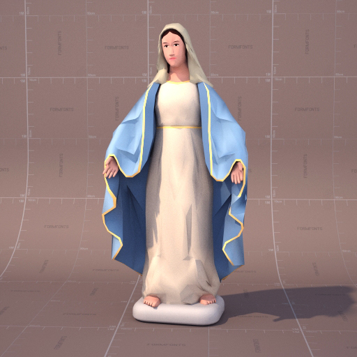 Sculpture of Virgin Mary.