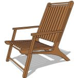 Indonesian teak arm chair suitable for both