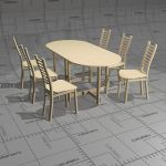 Taru foldable dining table, 170 x 80 x 72, top and...