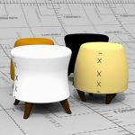 Toi & Moi ottoman /pouffe / stool from Andreu ...