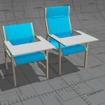 Kari XY easy chairs, frame form pressed birch or b...