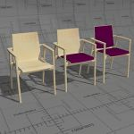 Plus series chairs, frame solid birch or oak, seat...
