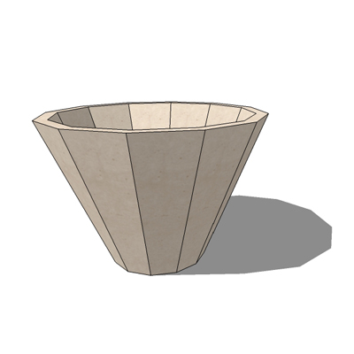 Faceted FS-12 planter by by Kornegay Design, 36
