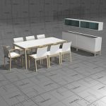 Kotio dining set, frame solid birch, top and seat ...