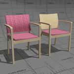 Era 204 armchair for lounges and senior homes, fra...