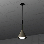Aplomb Light Fixture, Revit Render 