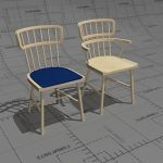 Bjorn chair and armchair, frame birch, seat option...
