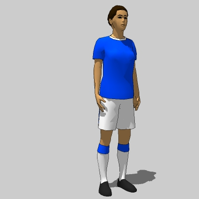 Female football/soccer players in standing pose. T....