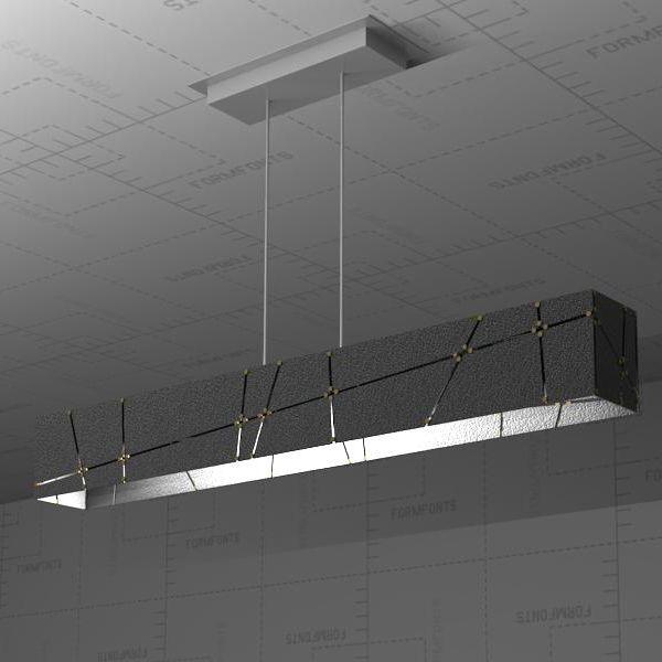 Outdoor Lights Revit: Crossroads Linear Suspension Lamp 3D Model