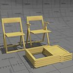Aviva folding chairs, frame beech or stained beech...