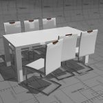 Aldo and Iron dining set, table 180 x 90cm, glossy...