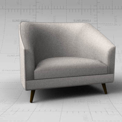 The Profile, Two And A Half armchair by Weiman. W-....