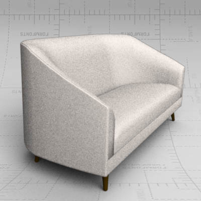 Profile two arm love seat and two arm sofa by Weim....