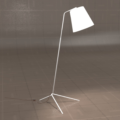 Angle Pewter Floor Lamp.