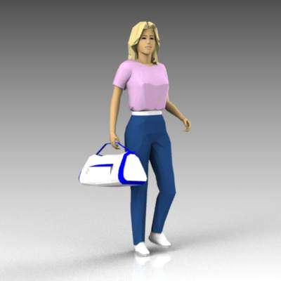 Females carrying bags.