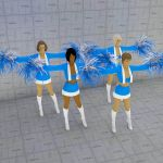 Cheerleaders. The costume and 