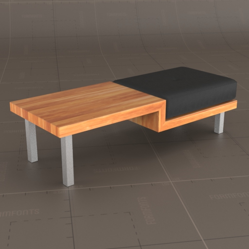 Plateau Coffee Table and Bench.