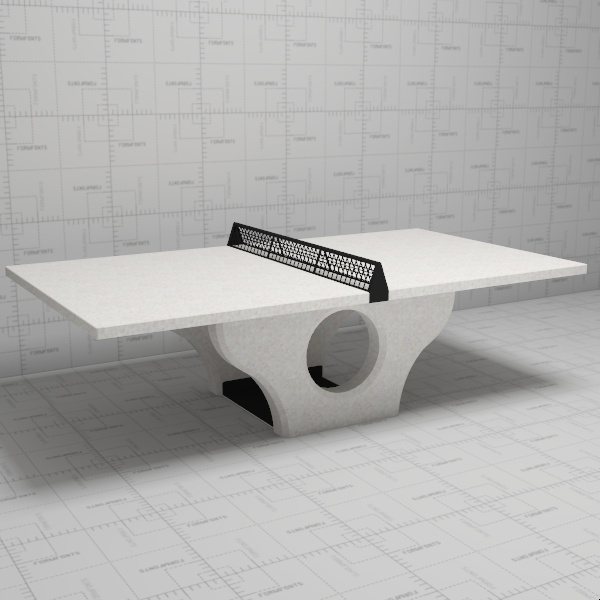 Description Concrete Table Tennis Ping Pong Table By Henge