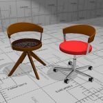 G 125X office chair with a classic twist. Seat uph...