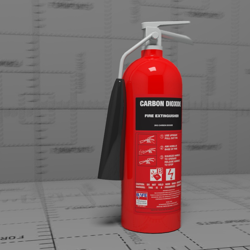 Low poly CO2 extinguisher.