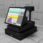 Touch-screen cash register for 