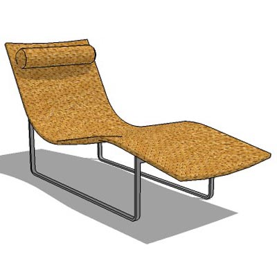 Wicker finished lounge chair with steel legs