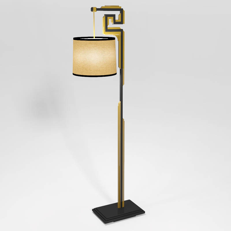 Greek key floor lamp from Laurel At 