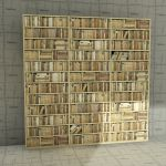 Generic low poly bookshelves in 