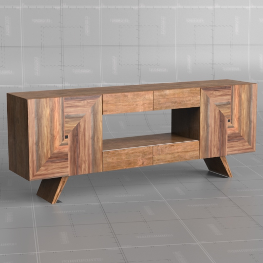 Reclaimed Wood Wedge Console.